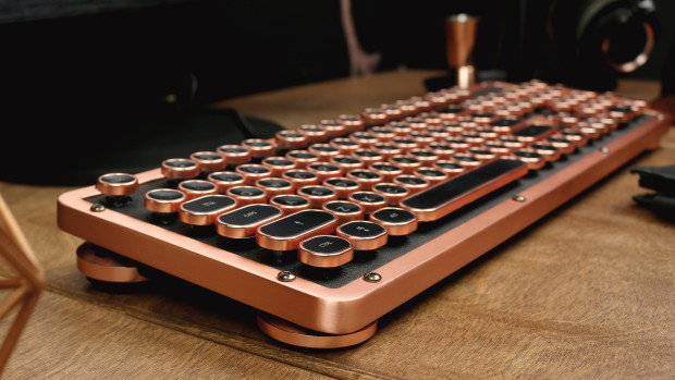 black copper vintage keyboard